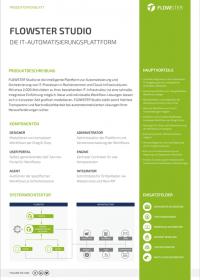 Vorschaubild Datenblatt FLOWSTER Studio